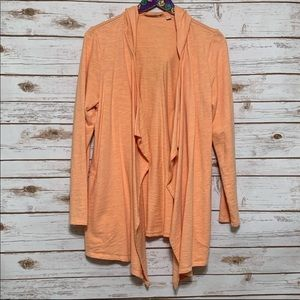 J. Jill peach draped hooded cardigan sweater